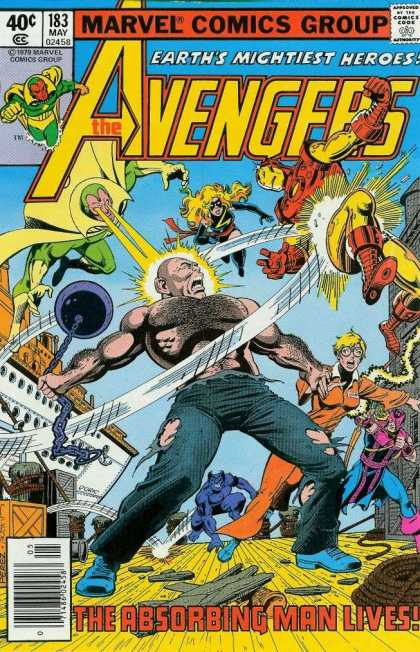 Avengers 183 - Earths Mightiest Heroes - The Absorbing Man Lives - One Against Many - Bald Hairy And Beautiful - Many Strengths - George Perez