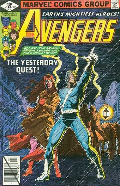 Avengers 185 - Lantern - Lightning - Yesterday - Quest - Beast - George Perez, Terry Austin