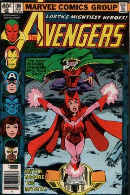 Avengers 186 - Modred - Iron Man - Captain America - Scarlet Witch - Mystic - John Byrne