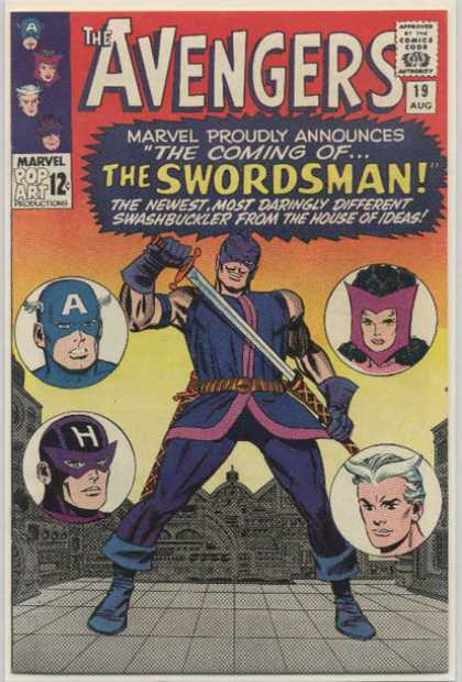 Avengers 19 - Swordsman - Scarlet Witch - Quicksilver - Hawkeye - Captain America - Dick Ayers, Jack Kirby
