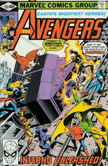 Avengers 193 - Iron Man - Captain America - Cable Car - Earths Mightiest Heroes - Inferno - Bob McLeod, Frank Miller