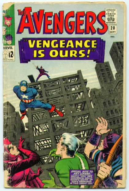Avengers 20 - Vengeance Is Ours - Construction - Captain America - Jump - Buildings - Jack Kirby