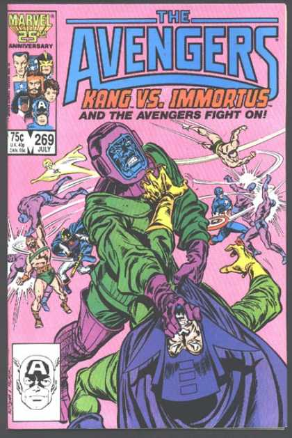 Avengers 269 - Kang - Captain America - Immortus - Kang Vs Immortus - Marvel 25th Anniversary - John Buscema