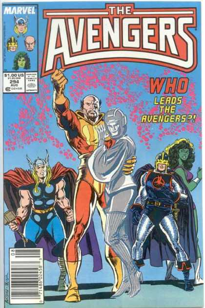 Avengers 294 - She-hulk - Thor - Who - Leads The Revengers - Group - John Buscema