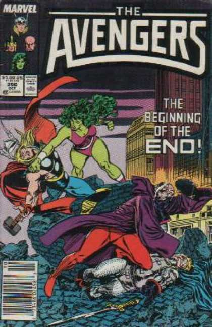 Avengers 296 - Mightiest Heroes - Thor - She-hulk - Fighting - Unconscious - John Buscema