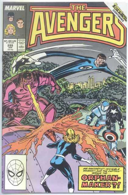 Avengers 299 - Orphan-maker - Marvel - Fantastic Four - Fire Mouth - Spider-man - John Buscema