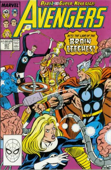 Avengers 301 - Captain America - Thor - Into The Lair Of The Brain Leeches - Mister Fantastic - Invisible Woman