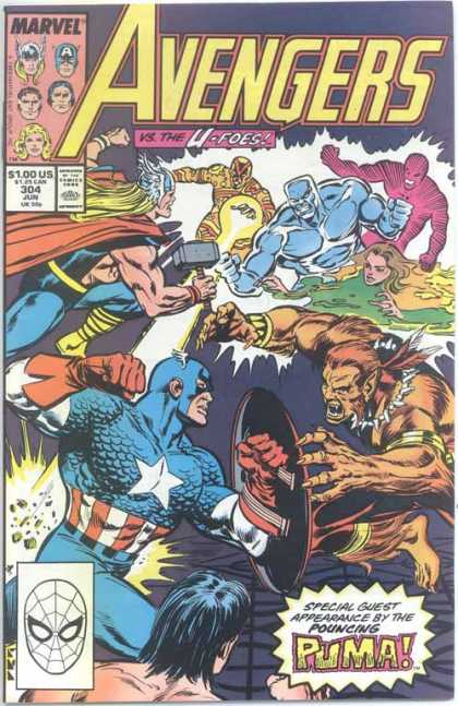 Avengers 304 - Captain America - Thor - Puma - Fight