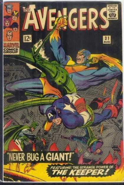 Avengers 31 - Captain America - Hawkeye - The Keeper - Never Bug A Giant - Captive