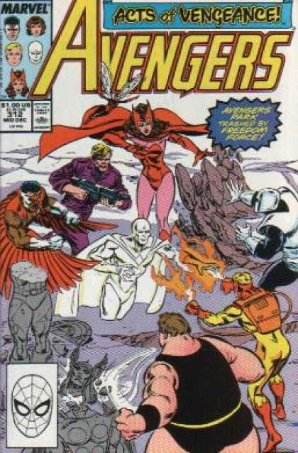 Avengers 312 - Acts Of Vengeance - Valkyrie - Flying - Freedom Force - Statues - Paul Ryan