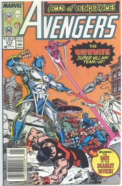 Avengers 313 - Vengeance - Super-villain - Team Up - Marvel Comics - The Scarlet Witch - Paul Ryan