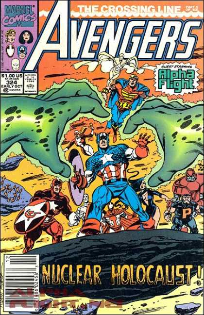 Avengers 324 - Avengers - Marvel Comics - Alpha Flight - The Crossing Line - Nuclear Holocaust - Paul Ryan