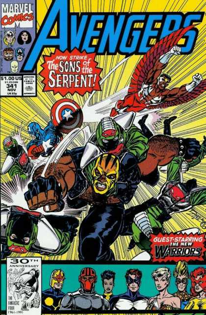 Avengers 341 - Sons Of The Serpent - New Warriors - Ron Lim