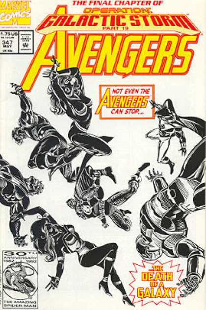 Avengers 347 - Fighting - Power - Strong - Fierce - Going Places - Steve Epting