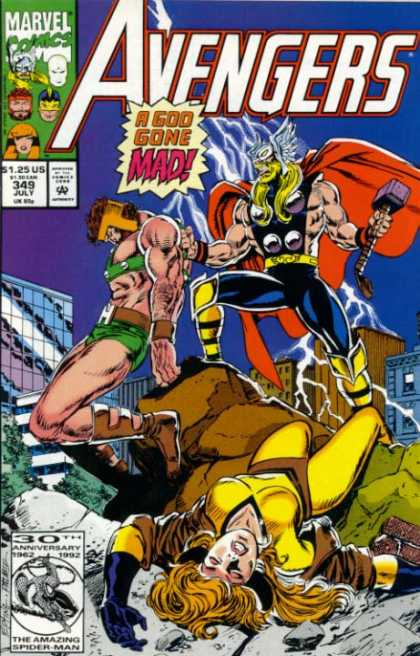Avengers 349 - Thor - A God Gone Mad - Woman - Hurt - Hercules - Steve Epting