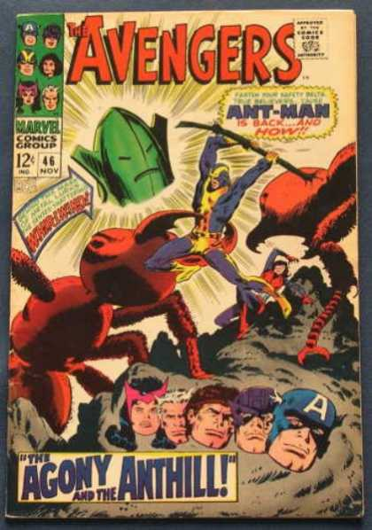Avengers 46 - Ant-man - Captain America - The Agony And The Anthill - Giant Ants - Whirlwind - John Buscema