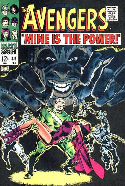 Avengers 49 - Mine Is The Power - Marvel Comics Group - 49 - February - The Flash - John Buscema