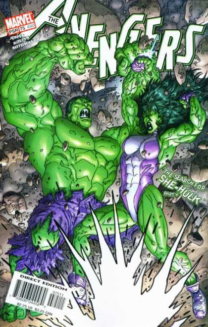 Avengers 490 - Hulk - She-hulk - Marvel - Purple Leotard - Green Skin