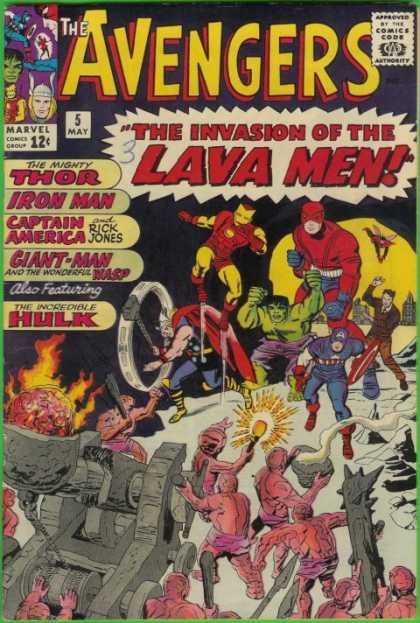 Avengers 5 - Thor - Rick Jones - Captain America - Invasion - Hulk - Jack Kirby, Rob Liefeld
