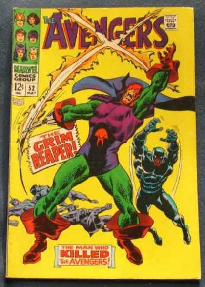 Avengers 52 - Black Panther - Grim Reaper - Silver Age - Hawkeye - Scarlet Witch - John Buscema