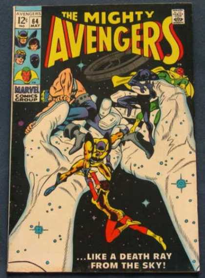 Avengers 64 - Space - Flying - Captured - Giant Hands - Villain - Gene Colan