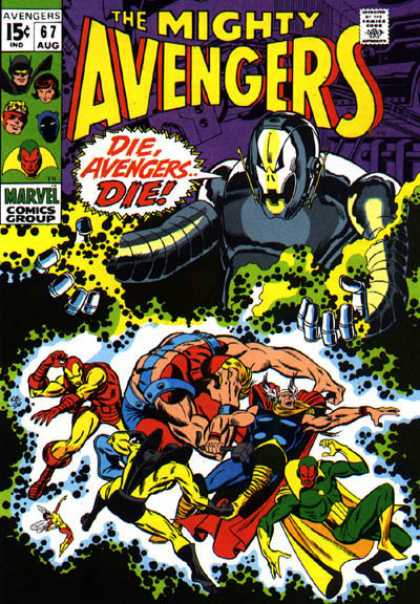 Avengers 67 - Thor - Iron Man - Ultron - Yellowjacket - Vision - Sal Buscema
