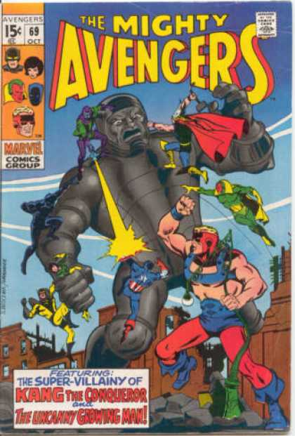 Avengers 69 - Thor - Mighty - Kang - Growing Man - Captain America - Sal Buscema