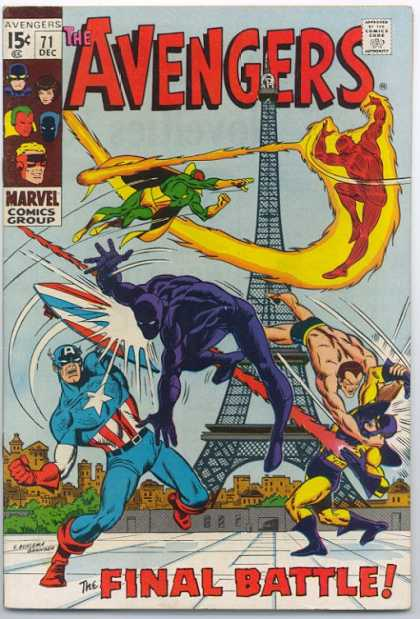 Avengers 71 - Avengers - Marvel - Comic - Group - December - Sal Buscema