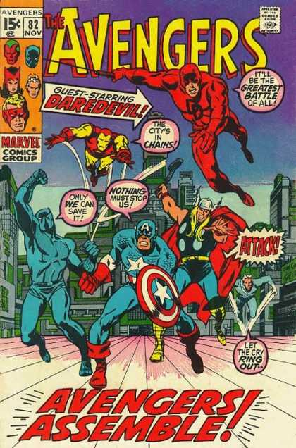 Avengers 82 - Daredevil - Iron Man - Thor - Captain America - Black Panther