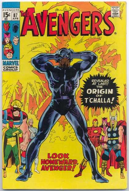 Avengers 87 - Batman - Approved By The Comics Code - Tchalla - Superhero - Thor - John Buscema