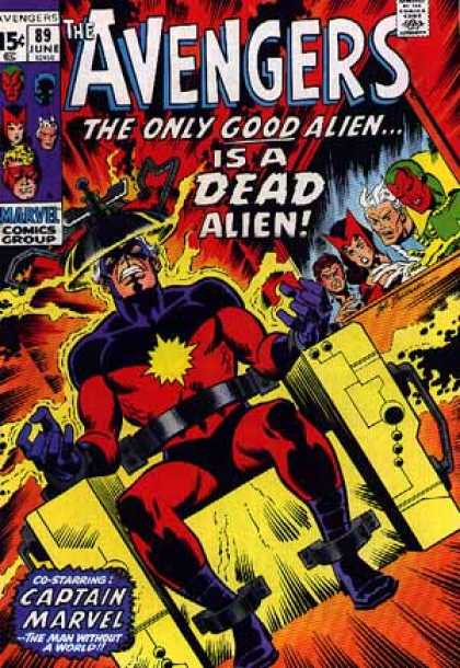 Avengers 89 - Alien - Approved By The Comics Code - Marvel Comics Group - Superhero - Captain Marvel - Sal Buscema