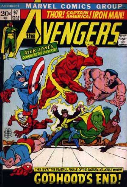 Avengers 97 - Rick Jones - Thor - Captain America - Iron Man - Villians - Bill Everett