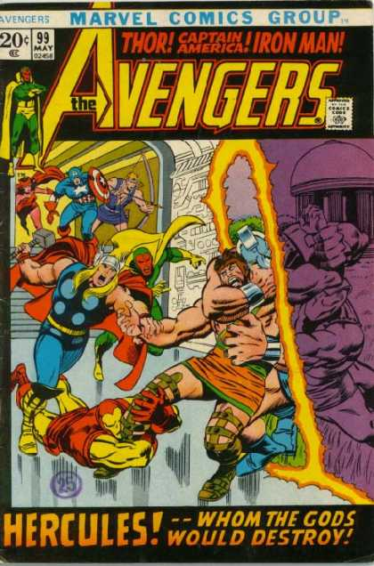 Avengers 99 - Marvel Comics Group - Thor - Iron Man - Captain America - Hercules - John Buscema