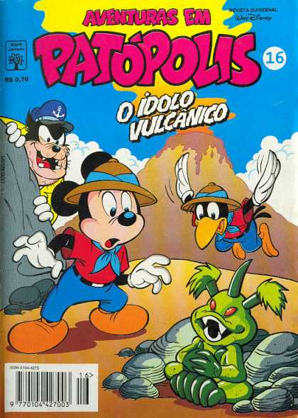Aventuras em Patopolis 16 - Volcano - Mickey Mouse - Crow - Alien - Bad Guy