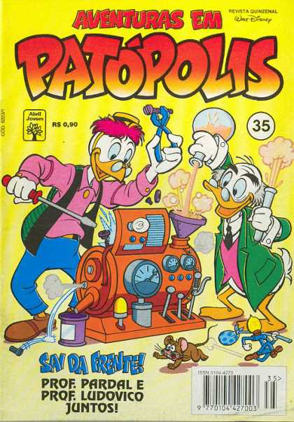 Aventuras em Patopolis 35 - Time Machine - The Scientists - Duck Fiction - Invention Of The Time Machine - Old Scientists