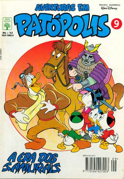 Aventuras em Patopolis 9 - No 9 - Walt Disney - Uncle Scrooge - Huey Duey And Louie - Warrior