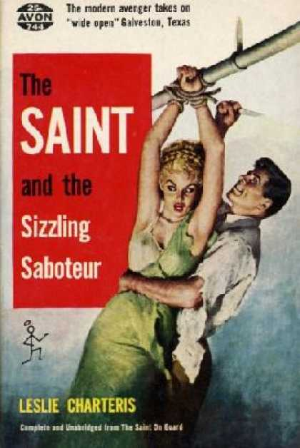 Avon Books - The Saint and the Sizzling Saboteur