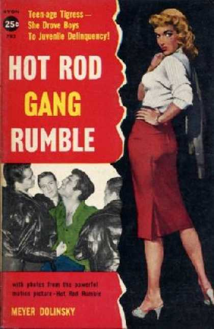 Avon Books - Hot Rod Gang Rumble (avon 783) - Meyer Dolinsky