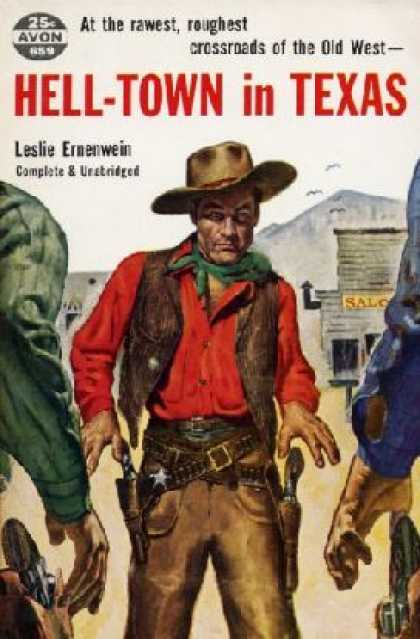 Avon Books - Hell-town In Texas - Leslie Ernenwein