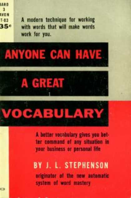 Avon Books - Anyone Can Have a Great Vocabulary - J.L. Stephenson