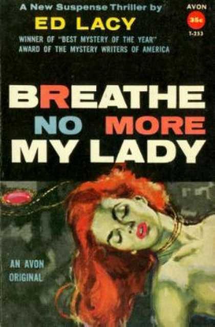 Avon Books - Breathe No More My Lady - Ed Lacy