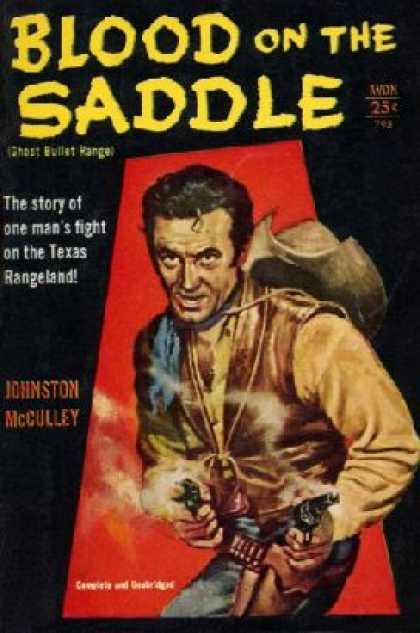 Avon Books - Blood On the Saddle (795) - Johnston Mcculley