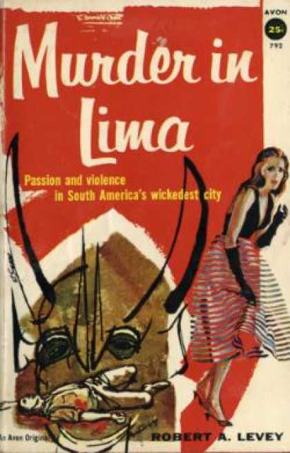 Avon Books - Murder In Lima - Robert a Levey