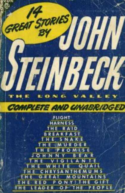 Avon Books - 14 Great Short Stories From the Long Valley - John Steinbeck