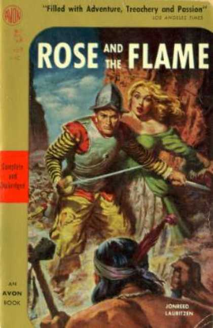 Avon Books - The Rose and the Flame - Jonreed Lauritzen