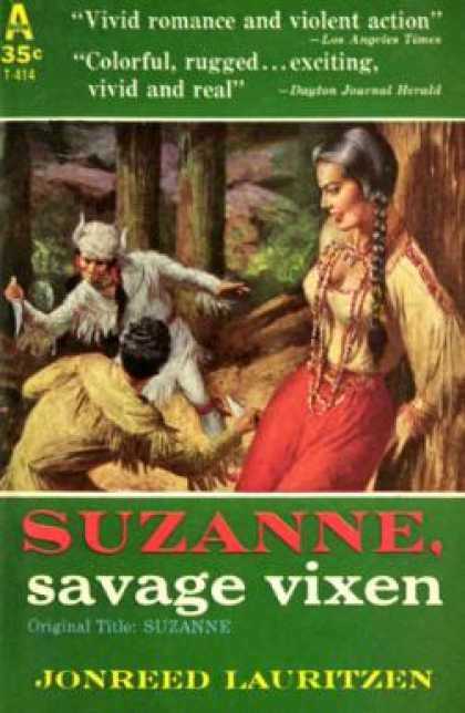 Avon Books - Suzanne, Savage Vixen - Jonreed Lauritzen