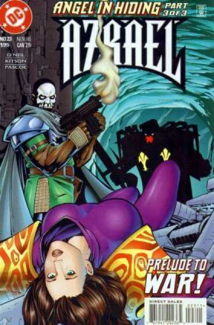 Azrael 23 - Angel In Hiding Part 3 Or 3 - No 23 195 - Prelude To War - Masked Man - Big Gun - Barry Kitson