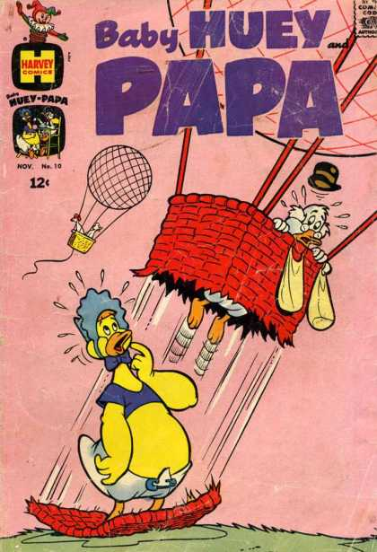 Baby Huey and Papa 10 - Chicken - Duck - Hot Air Balloon - Hat - Jack In The Box