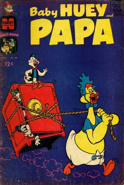 Baby Huey and Papa 28 - Red Safe - Robbers - Huge Baby - Blue Road - Grandpa Duck