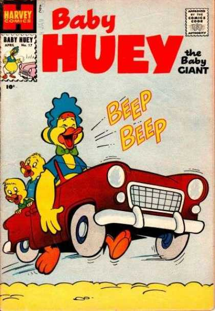 Baby Huey the Baby Giant 17 - Harvey - Baby Nuey - Car - Duck - Comics Code